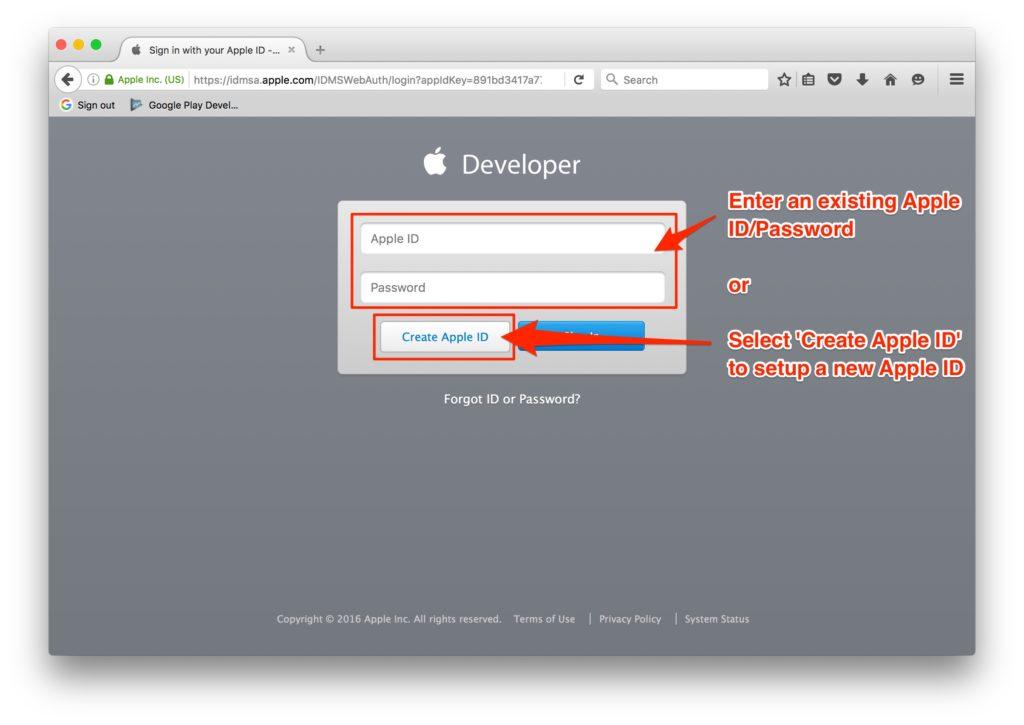 create-app-id-veerit-app-development